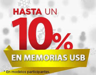 HASTA 10% EN MEMORIAS USB