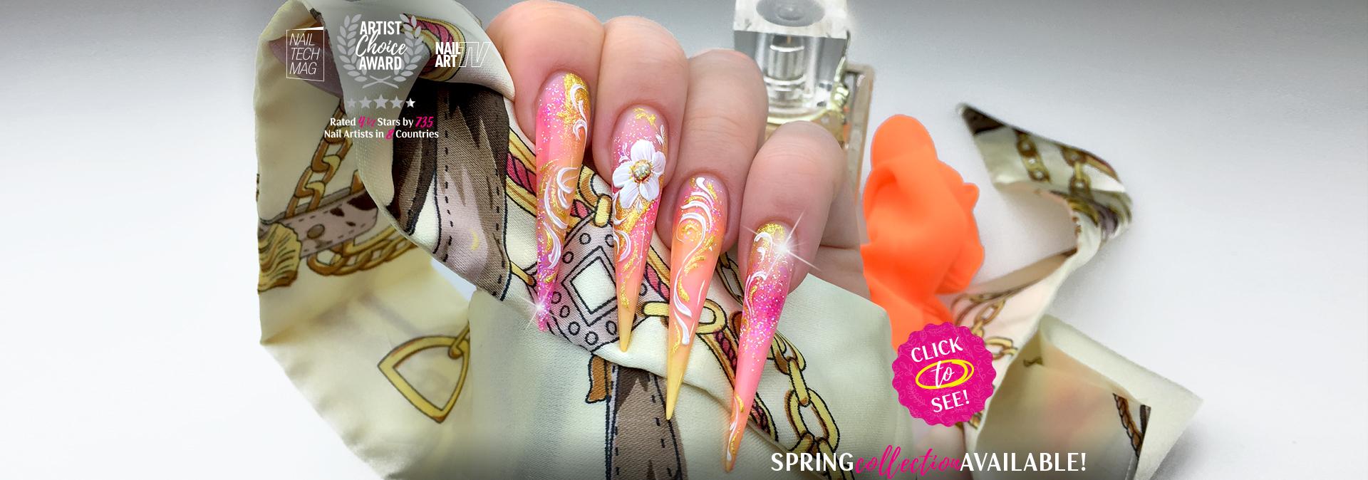 Spring Gel Nail Design