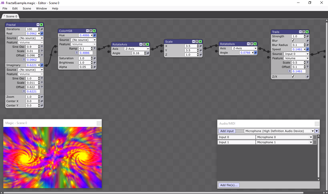 Screenshot for Magic Concert Visuals Software