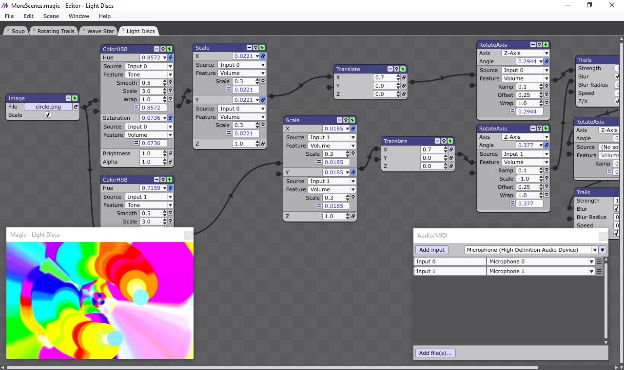 Screenshot for Magic Live Audio Visuals Software