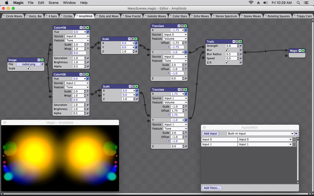 Screenshot for Magic Music Visualizer Software