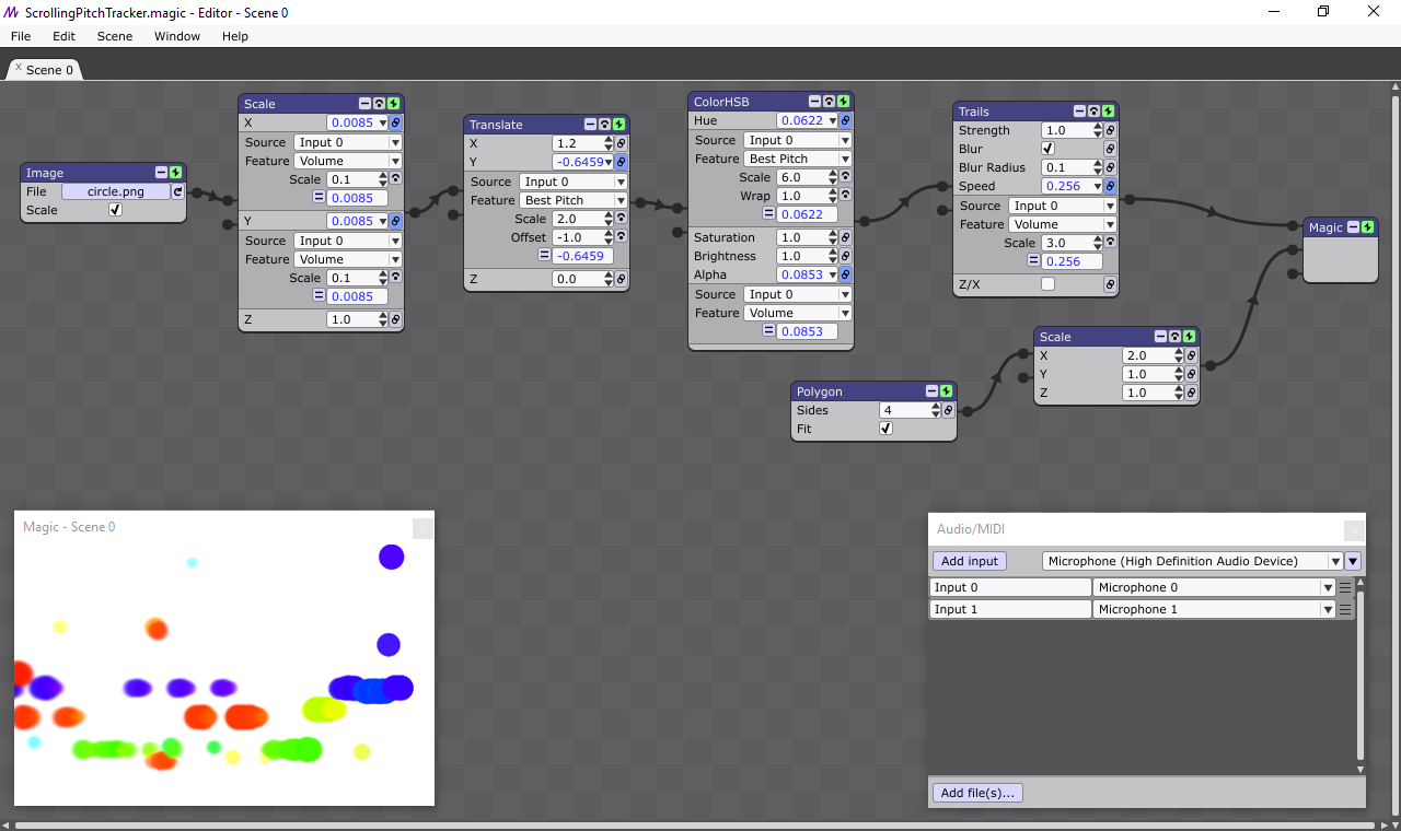 Screenshot for Magic Music Visualization Software