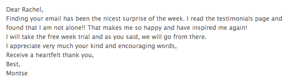 email nicest surprise of the week - inspired again