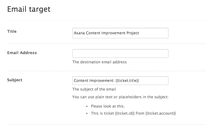 email target