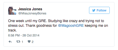 One week until my GRE. Thank goodness for @magooshgre keeping me on track