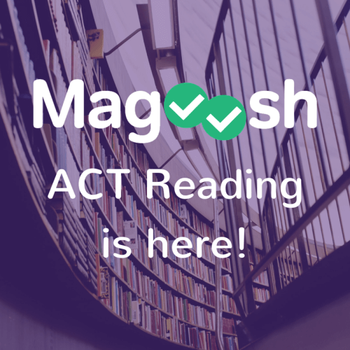 ACT Reading is here!