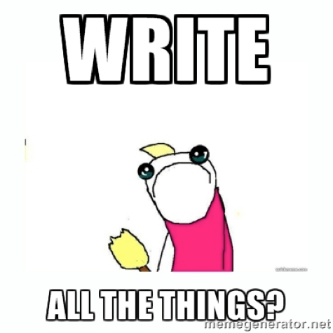Write all the things