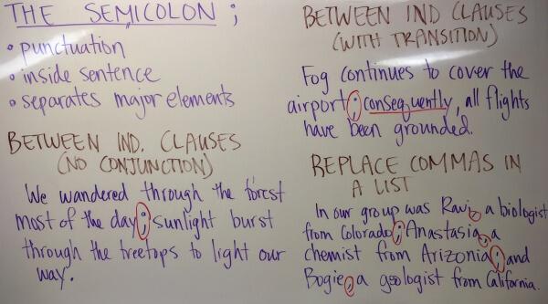 Semicolons