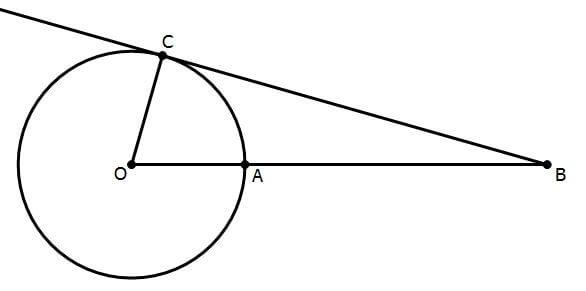 tangent line, unknown radius