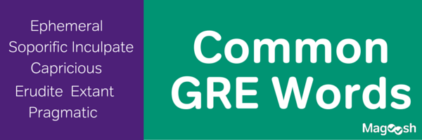 Common GRE Word List