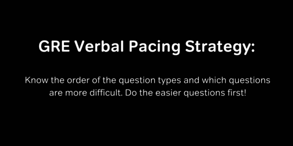 GRE verbal pacing tips