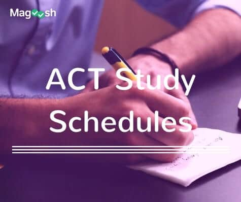 ACT Study Schedules