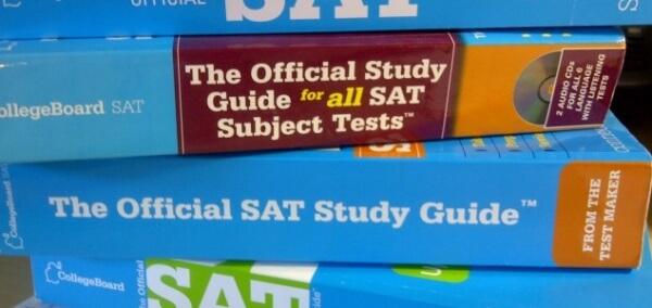 SAT Blue Book Stack