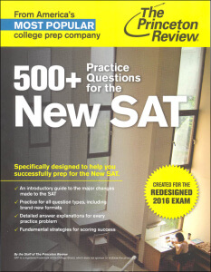 Princeton Review 500+ Practice Questions for the New SAT - book review from Magoosh