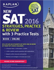 Kaplan New SAT 2016 Strategies, Practice and Review with 3 Practice Tests - book review from Magoosh