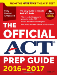 cover of the Official ACT Prep Guide 2016-2017 4th edition