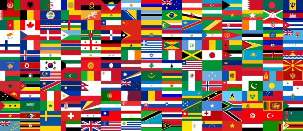 collection of international flags