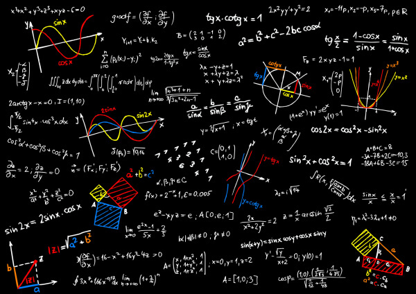 blackboard with mathematics