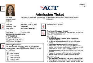 ACT Test Registration -Magoosh