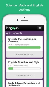 ACT flashcards from Magoosh screenshot 1