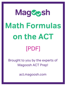 math formulas on the ACT