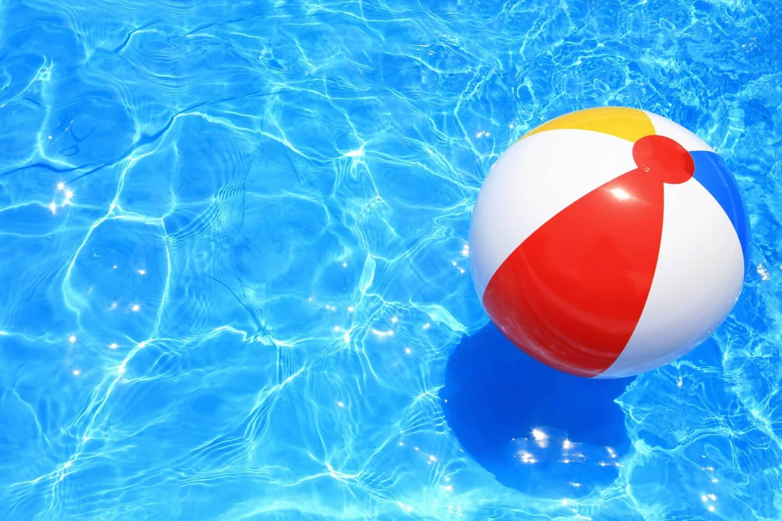 Beach ball in a pool -Magoosh