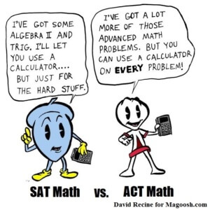 ACT vs SAT Math Section