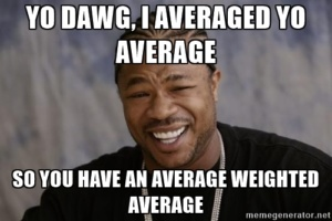 how to solve weighted mean