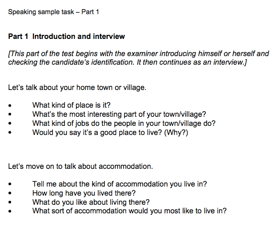 example of introduce yourself in ielts