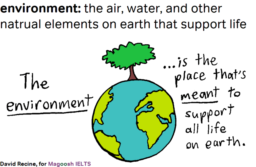 IELTS science vocabulary - environment - magoosh