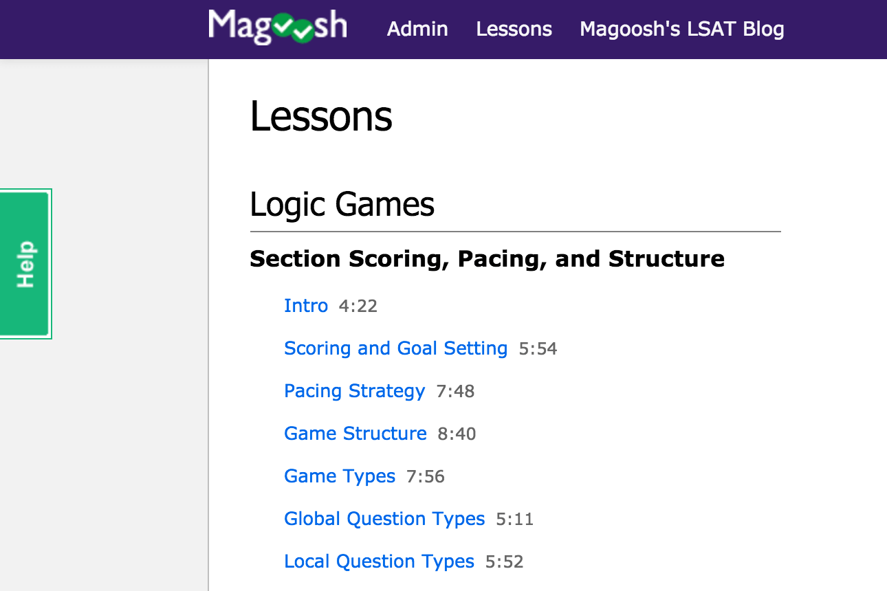 Lsat Prep Magoosh Online Practice Diagram Logic Games Lessons