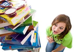 student nurse with books
