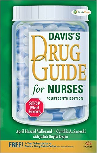 Davis drug guide for nurses 2016
