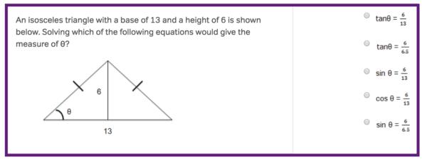 ACT math topics isosceles triangle
