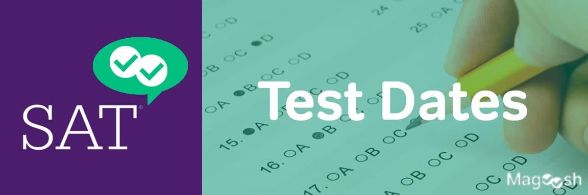 sat test dates -magoosh