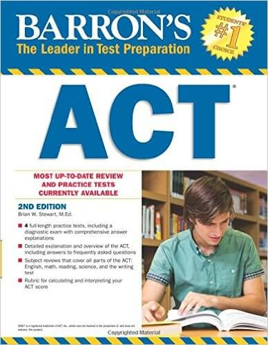 Barron's ACT 3rd edition book review, ACT books