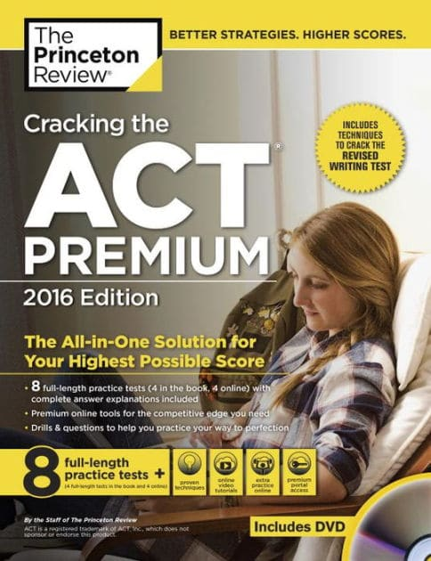 princeton review cracking the act premium 2016