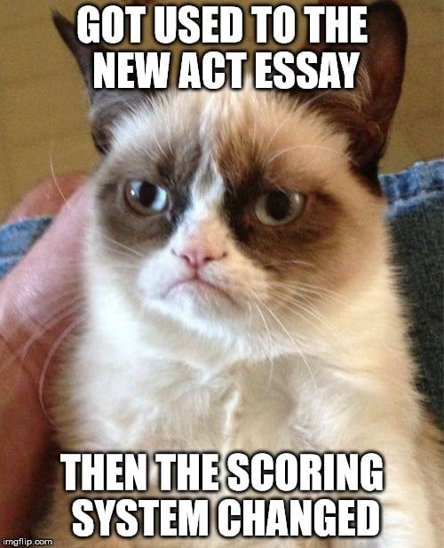 new scoring system act essay