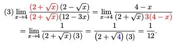 Example limit problem 3 with solution