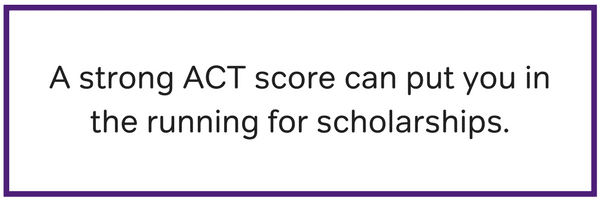 what is a good act score for scholarships