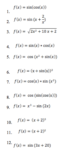 chain rule practice problems