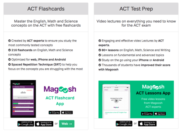 magoosh act mobile apps
