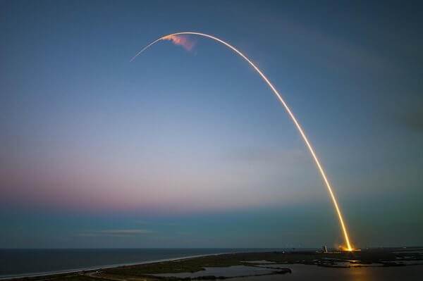 Path of a rocket traced through the atmosphere can be modeled with multivariables