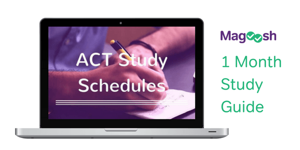 ACT test study guide schedules one month study guide