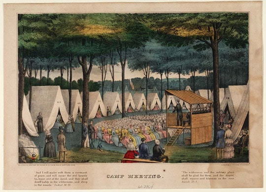 Tent revival-Second Great Awakening APUSH-magoosh