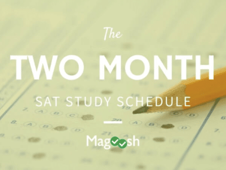 Two month SAT study schedule-magoosh