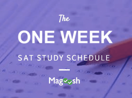 one week sat study schedule-magoosh