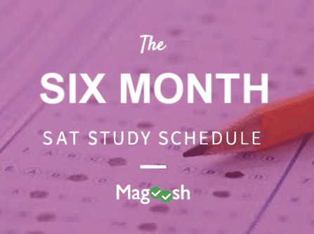 six month sat study schedule
