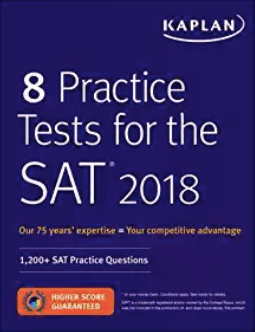 Kaplan's 8 Practice Tests - Magoosh review of the best SAT books