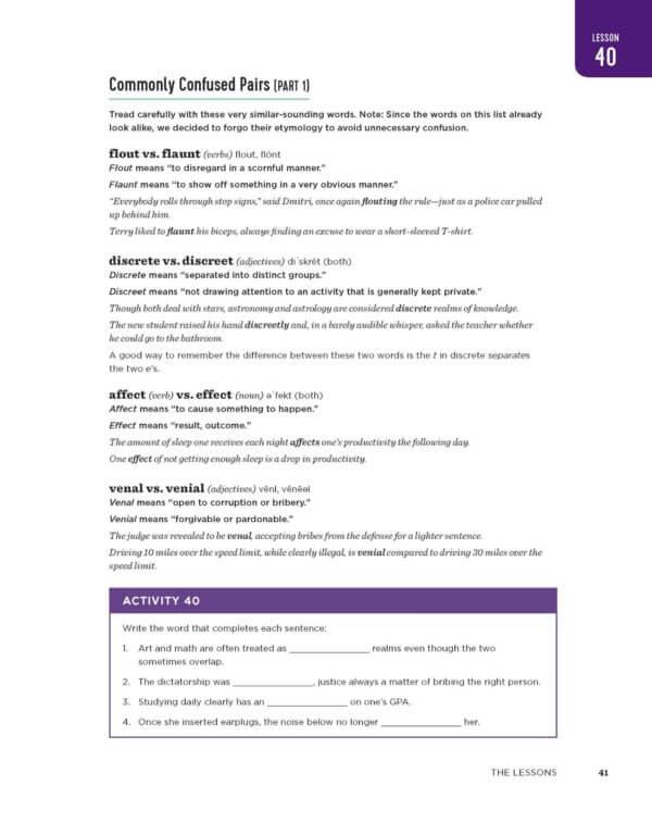 Excerpts from Vocabulary Builder Workbook-magoosh
